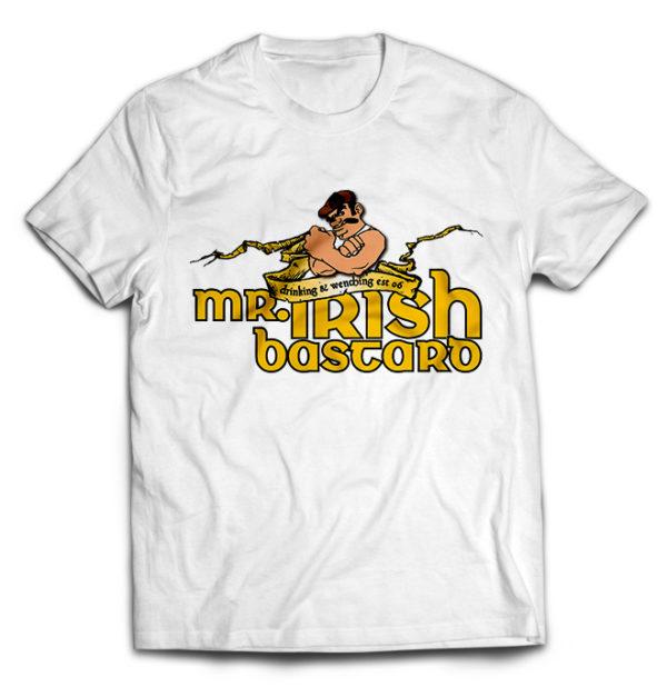 футболка белая Mr. Irish Bastard