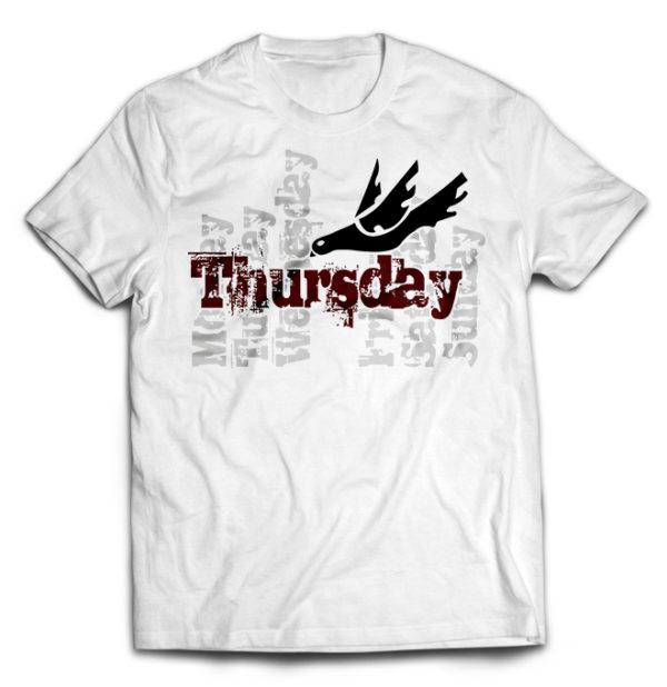 футболка белая Thusday