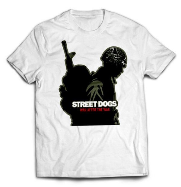 футболка белая Street dogs