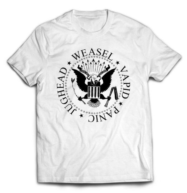 футболка белая Screeching Weasel