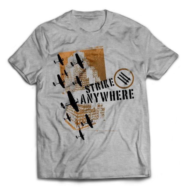 футболка серая Strike Anywhere