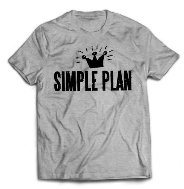 футболка серая Simple Plan