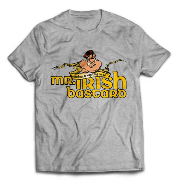 футболка серая Mr. Irish Bastard
