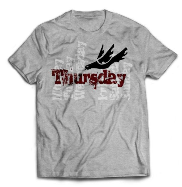 футболка серая Thusday