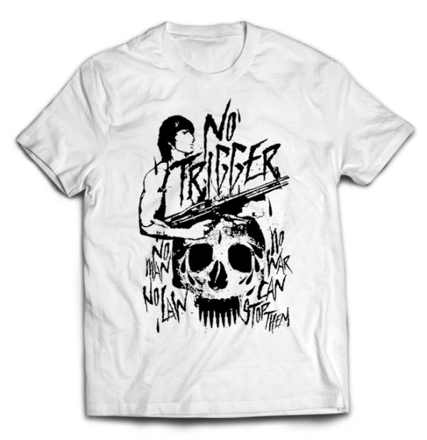 футболка белая No trigger