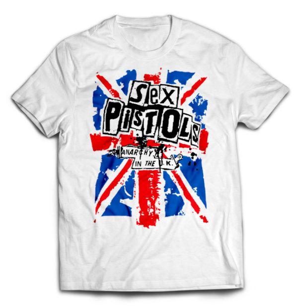 футболка белая Sex_Pistols