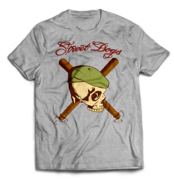 футболка серая Street dogs