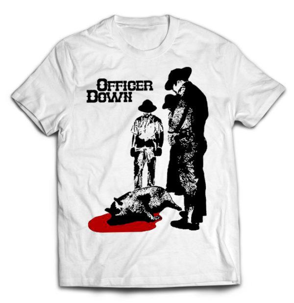 футболка белая Officer Down