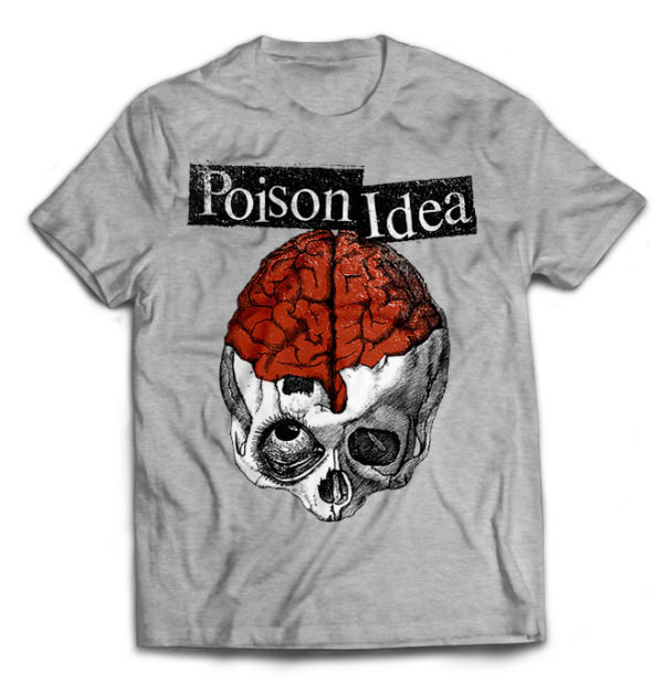 футболка серая Poison Idea