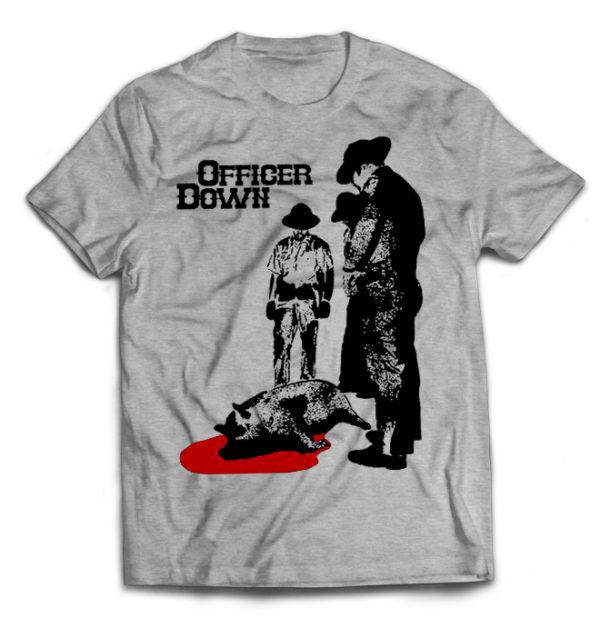 футболка серая Officer Down