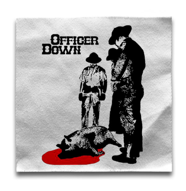 нашивка Officer Down