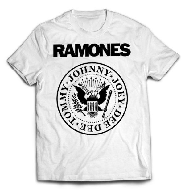 футболка белая Ramones