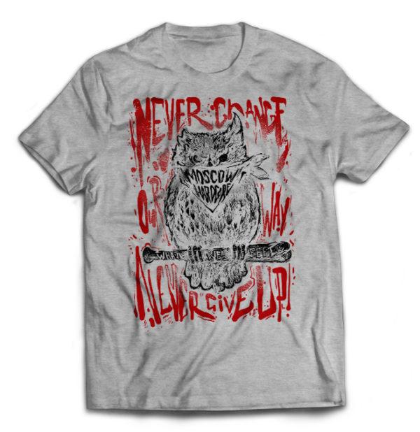 футболка серая What We Feel