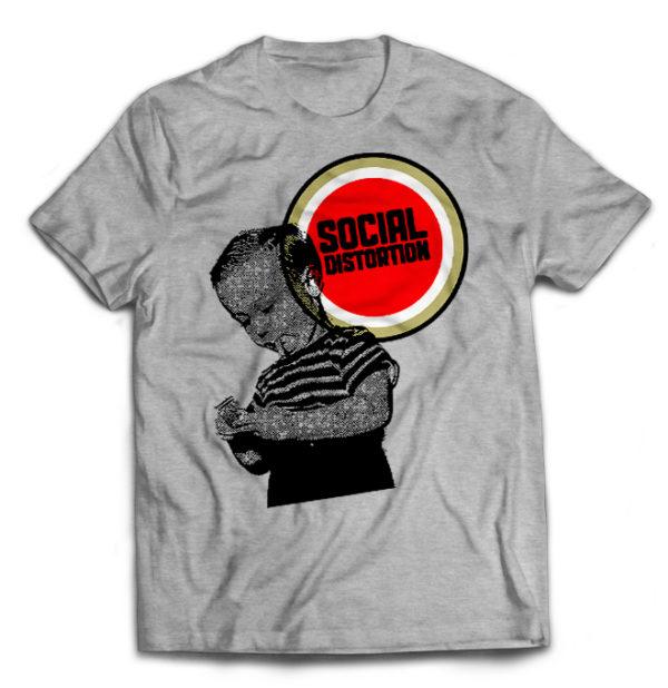футболка серая Social Distortion