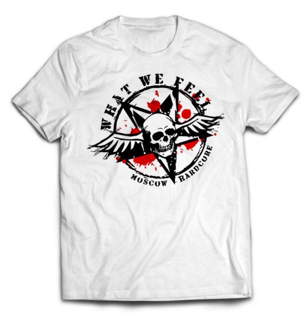 футболка белая What We Feel
