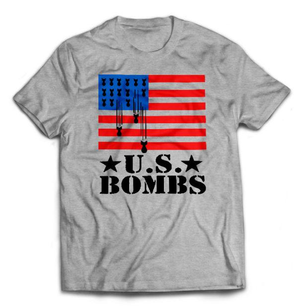 футболка серая U.S. Bombs