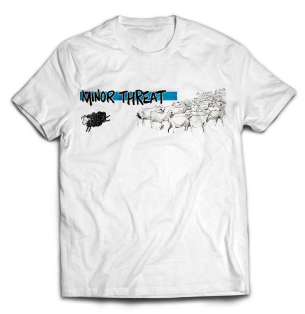 футболка белая Minor Threat