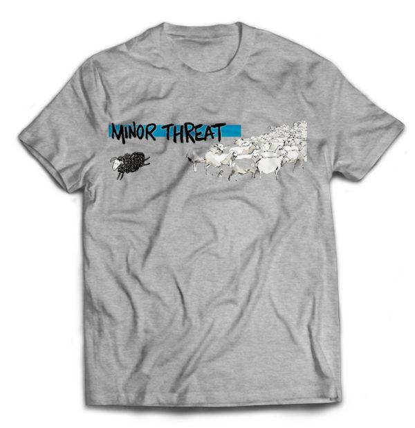 футболка серая Minor Threat