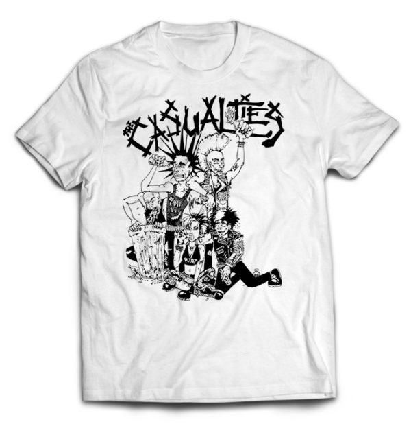футболка белая Casualties