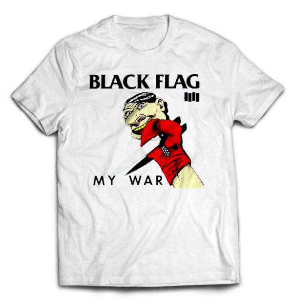 футболка белая Black Flag
