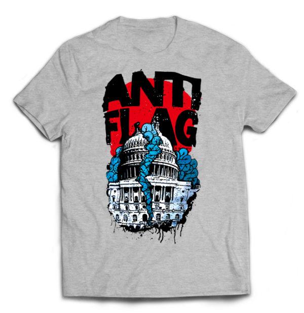 футболка серая Anti-flag