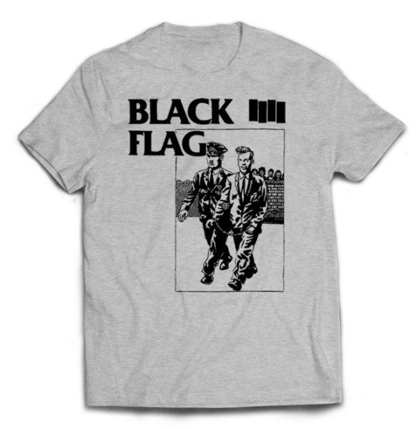 футболка серая Black Flag