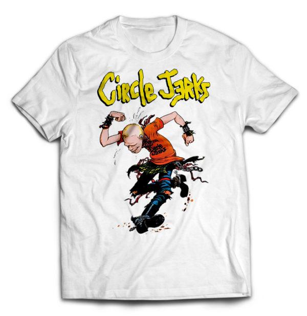 футболка белая Circle jerks +++