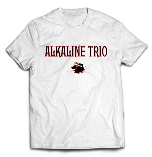 футболка белая Alkaline trio
