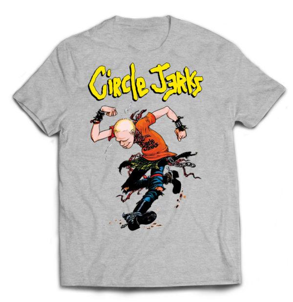 футболка серая Circle jerks +++
