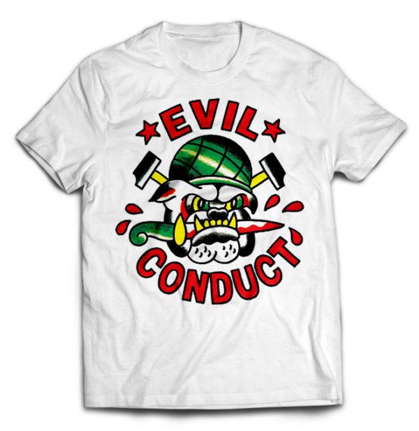 футболка белая Evil Conduct
