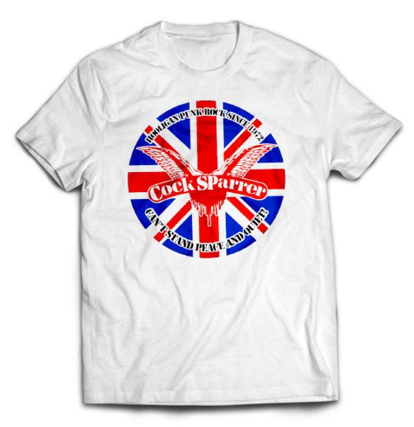 футболка белая Cock Sparrer