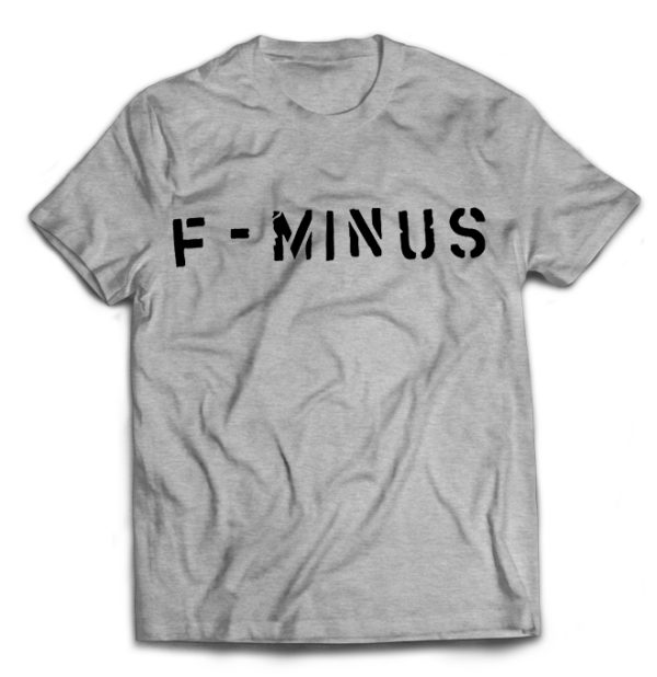 футболка серая F-minus