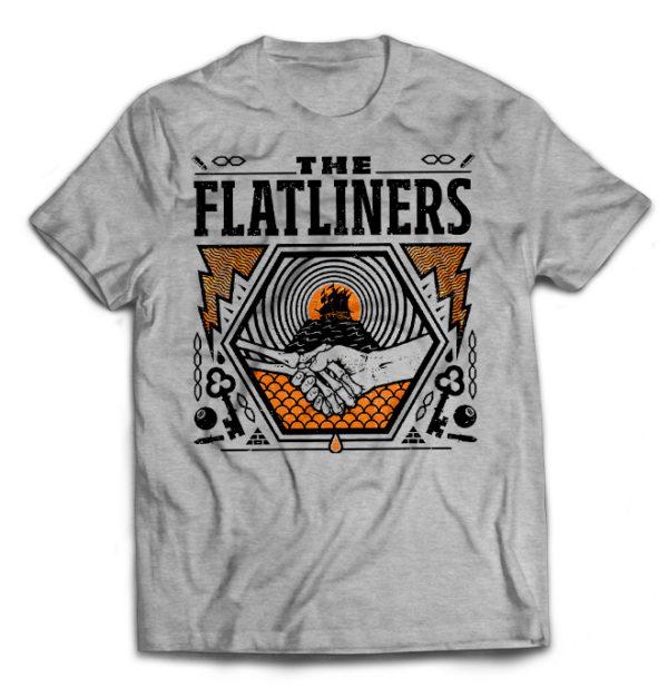 футболка серая Flatliners