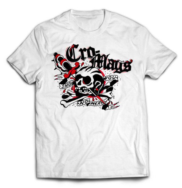 футболка белая Cro-Mags