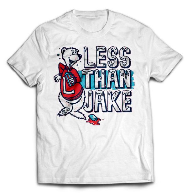 футболка белая Less Than Jake