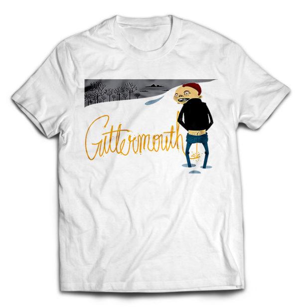 футболка белая Guttermouth