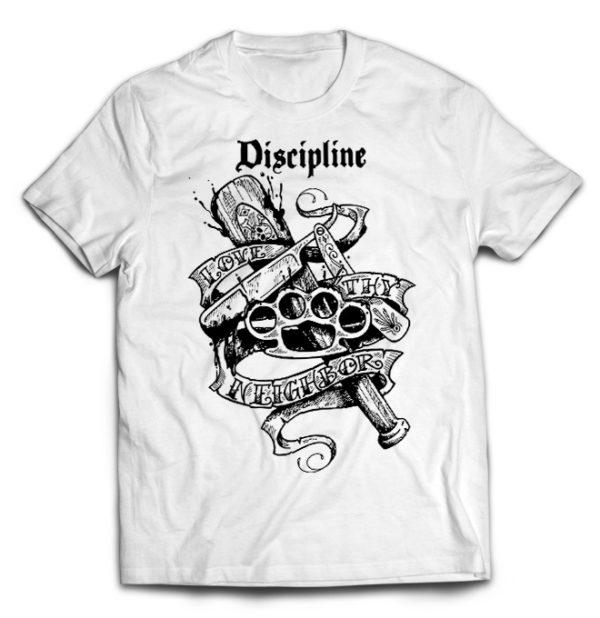 футболка белая Discipline