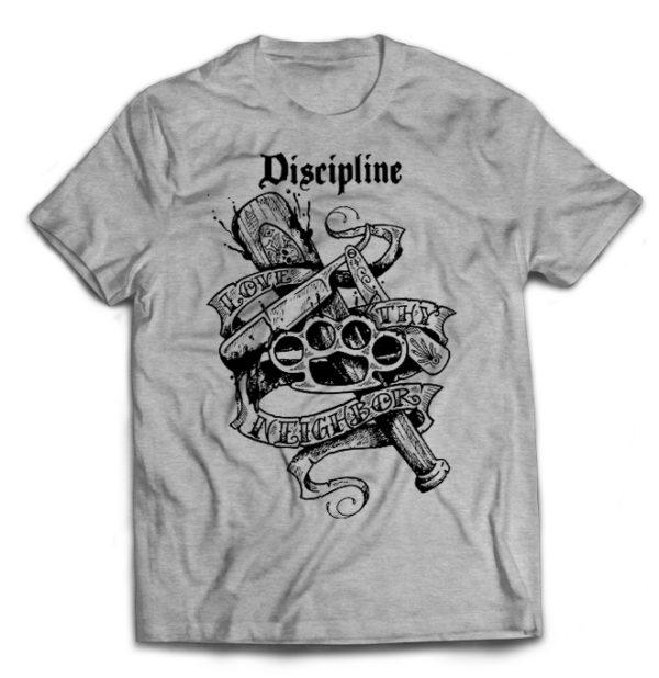 футболка серая Discipline