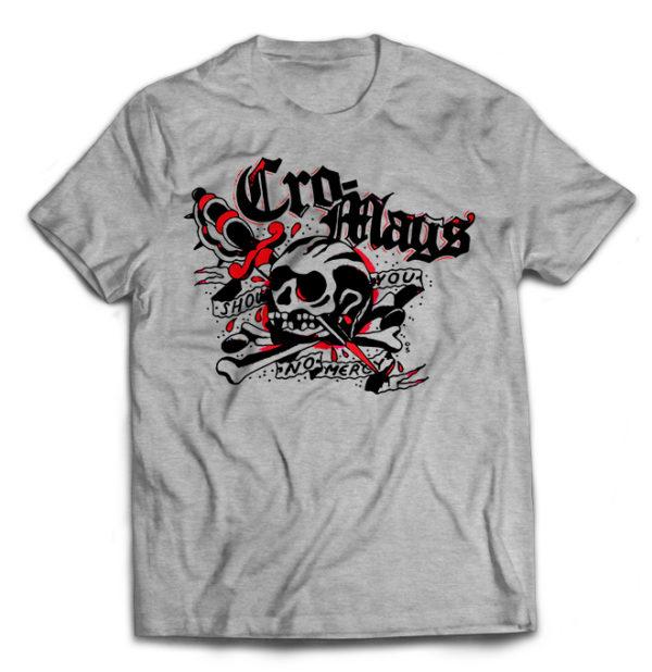 футболка серая Cro-Mags