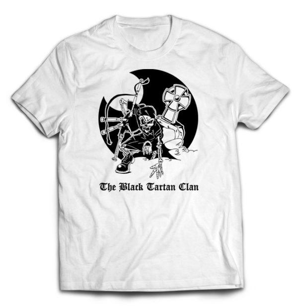 футболка белая Black Tartan Clan