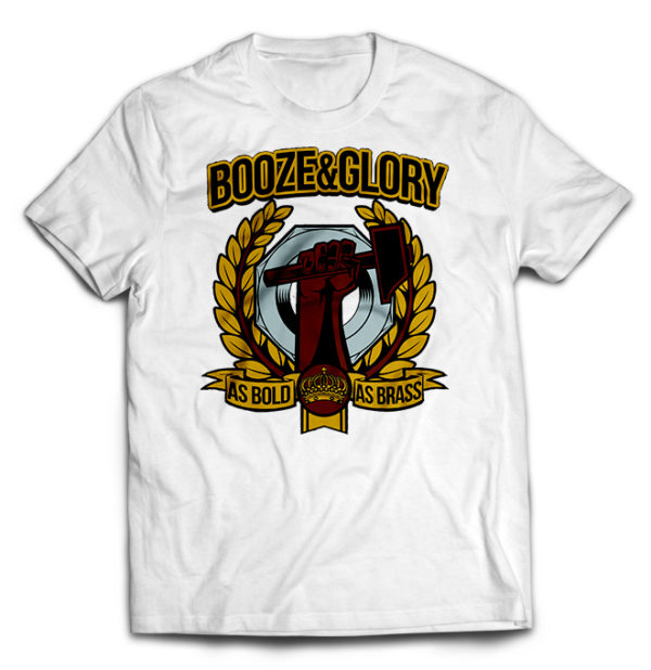 футболка белая Booze & Glory