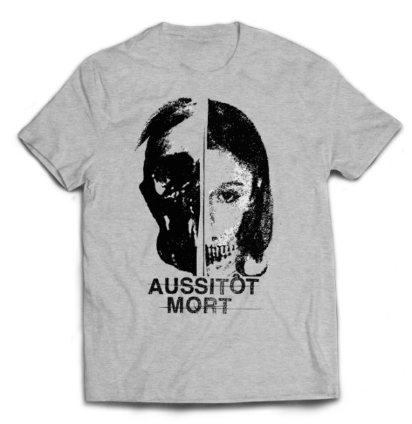 футболка серая Aussitiot Mort