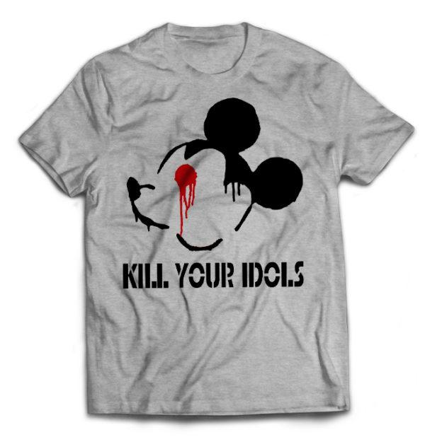 футболка серая Kill Your Idols