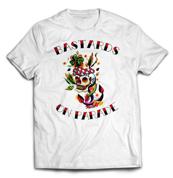 футболка белая Bastards On Parade