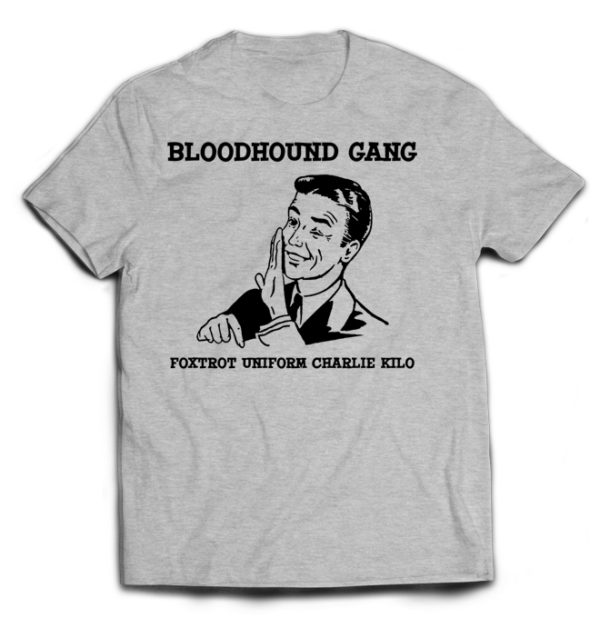 футболка серая Bloodhound Gang