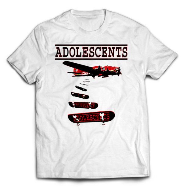 футболка белая Adolescents