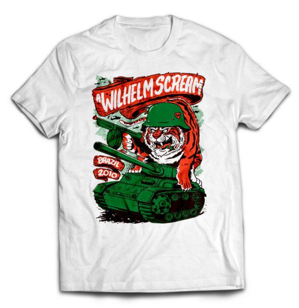 футболка белая A Wilhelm Scream