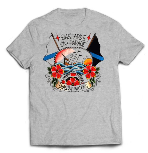 футболка серая Bastards On Parade