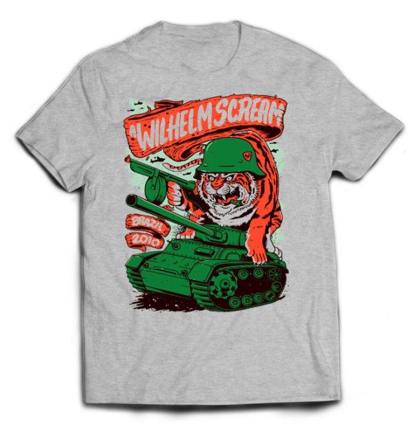 футболка серая A Wilhelm Scream