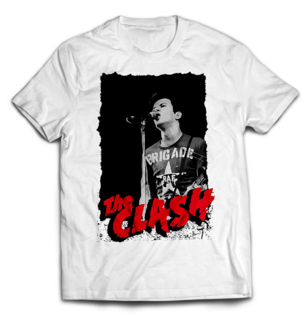 футболка белая Clash